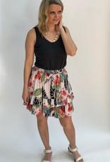 Angie Tropical Pritn Ruffle Tier Skirt