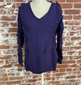 Neon Buddha Hibiscus Pullover Sweater