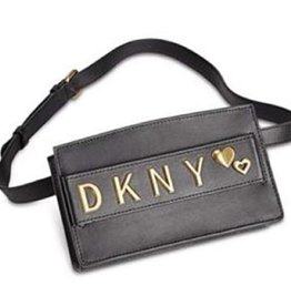 DKNY DKNY Smoke Leather Belt Bag Black with Logo