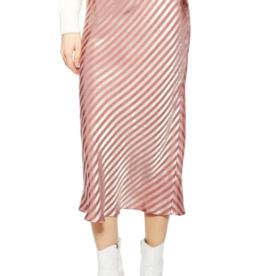 Topshop Topshop Stripe Satin Bias Midi Skirt Sz 12