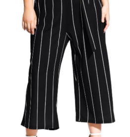 Topshop City Chic Elegant Stripe Culottes Sz XL