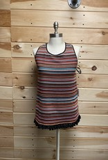 Laundry Laundry Striped Crochet Halter Top Sz M