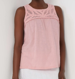 Joe Fresh Joe Fresh Crochet Trim Tank Pink Rose Sz S