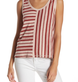 Susina Susina Mixed Stripe Tank Top