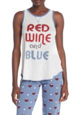 PJ Salvage PJ Salvage Red Wine & Blue Pajama Tank