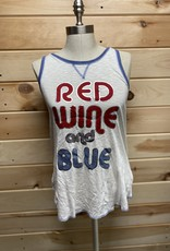 PJ Salvage PJ Salvage Red Wine & Blue Pajama Tank