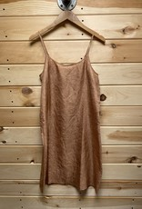 Eileen Fisher Eileen Fisher Silk Beige Slip Dress Sz XXS