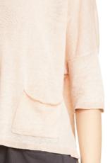 Eileen Fisher Eileen Fisher Bateau Neck Linen Boxy Top Sz XL