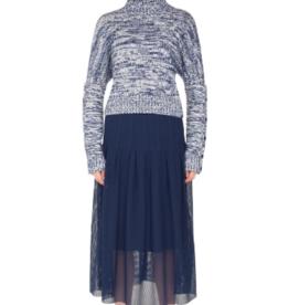 Akris Akris Punto Melange Knit Turtleneck Sweater Sz 14