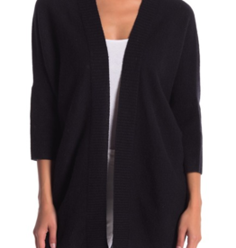 Halogen Halogen Three-Quarter Sleeve Cashmere Cardigan One Size