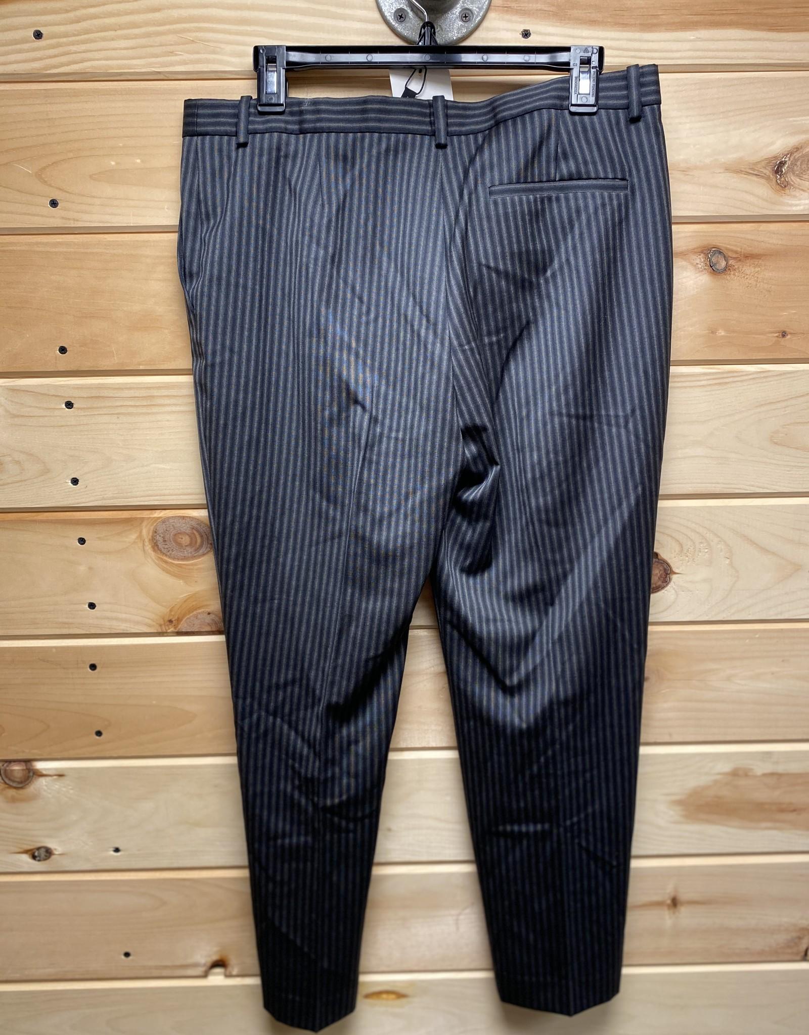 theory Theory Striped Wool Cropped Pants Sz 8