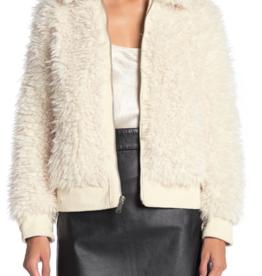 BCBGeneration BCBG Zip Front Faux Fur Jacket Sz XS