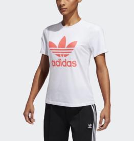 Adidas Adidas Trefoil Tee White/Flare Sz S