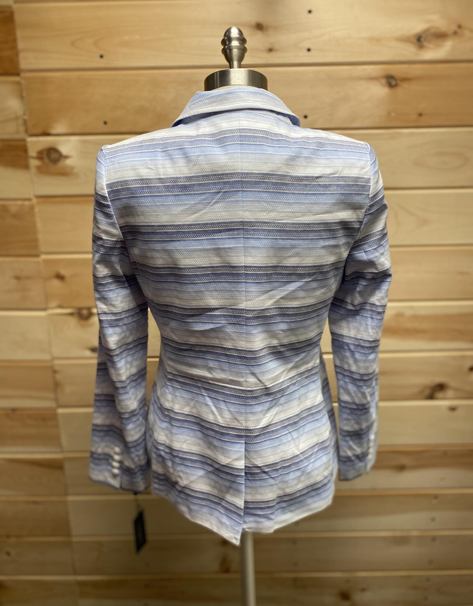 Tommy Hilfiger Tommy Hilfiger Textured Striped Two-Button Blazer Sz 10
