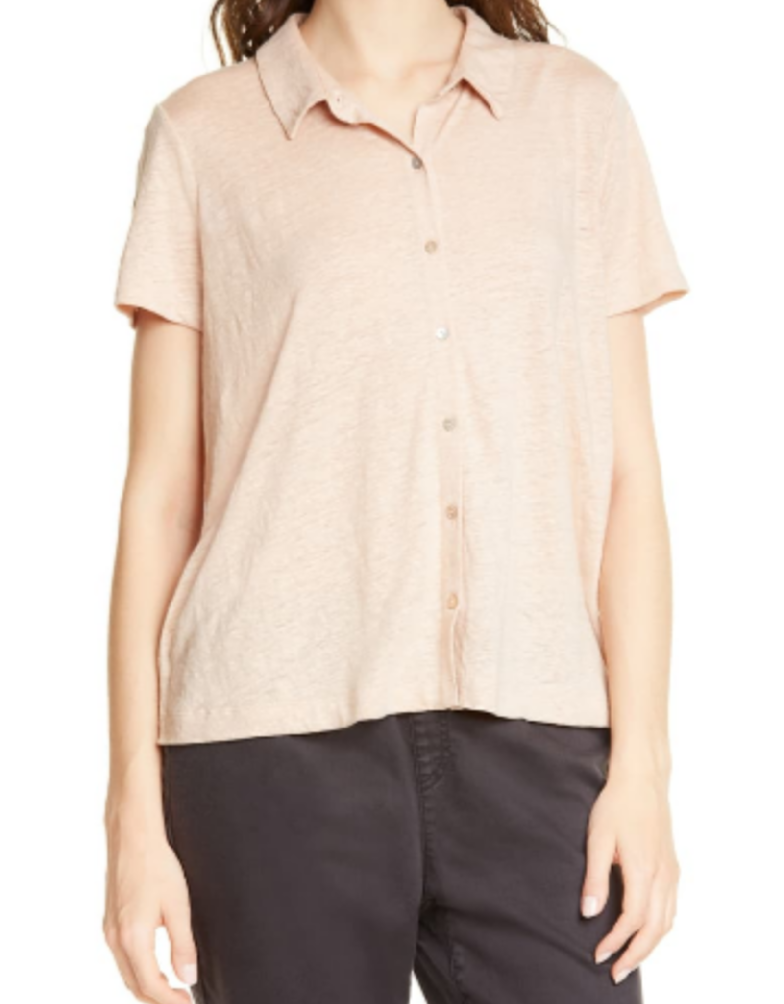 Eileen Fisher Eileen Fisher S/S Button Up Blouse Sz L