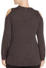 Nic + Zoe Nic + Zoe Rhinestone Cold Shoulder Pullover Sweater Sz 1X