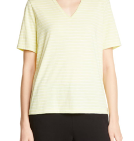 Eileen Fisher Eileen Fisher V-Neck Top Green Sz M