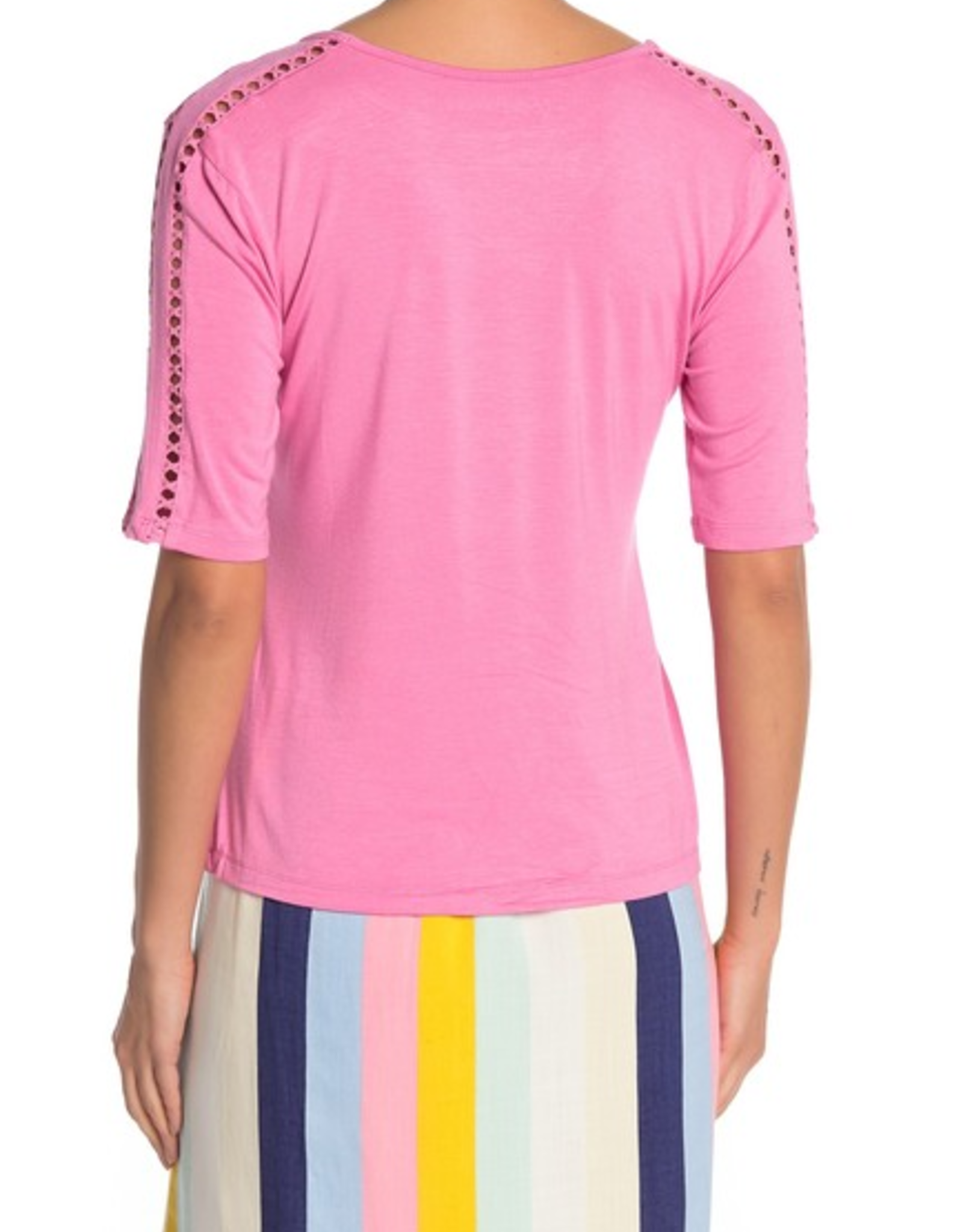Catherine Malandrino Catherine Maladrino Cutout Trim T-Shirt Sz L