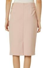 Philosophy Philosophy Blush Solid Back Zip Skirt Sz 8