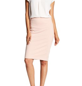 Philosophy Philosophy Blush Solid Back Zip Skirt Sz 8