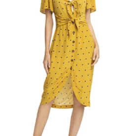 ASTR THE LABEL ASTR Cole Hi/Lo Dress Mustard Sz XS