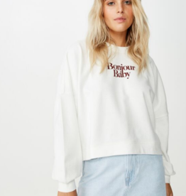 Cotton On Cotton On Harper Boxy Crew Sweatshirt Sz XXS
