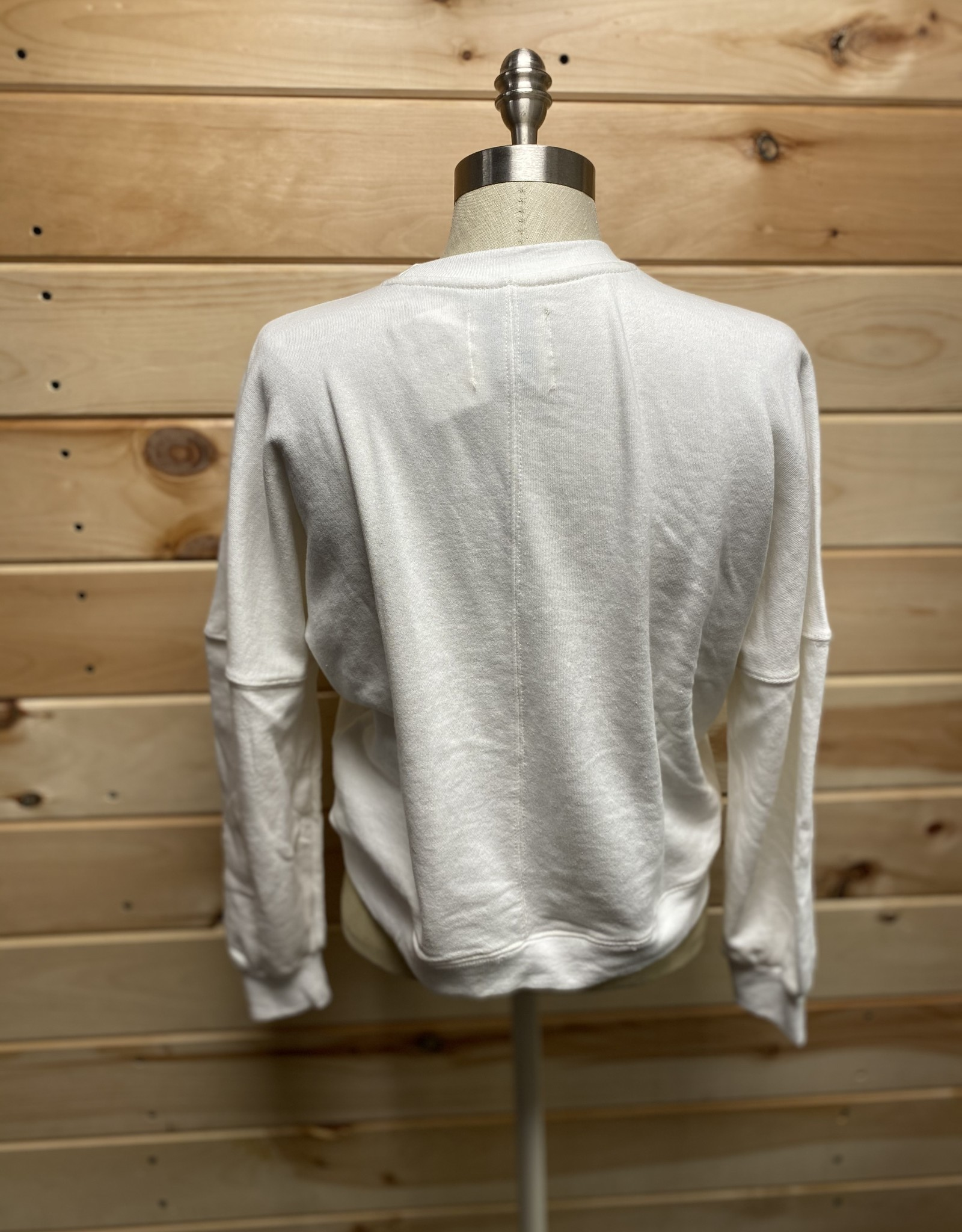 Cotton On Cotton On Harper Boxy Crew Sweatshirt Sz XXS
