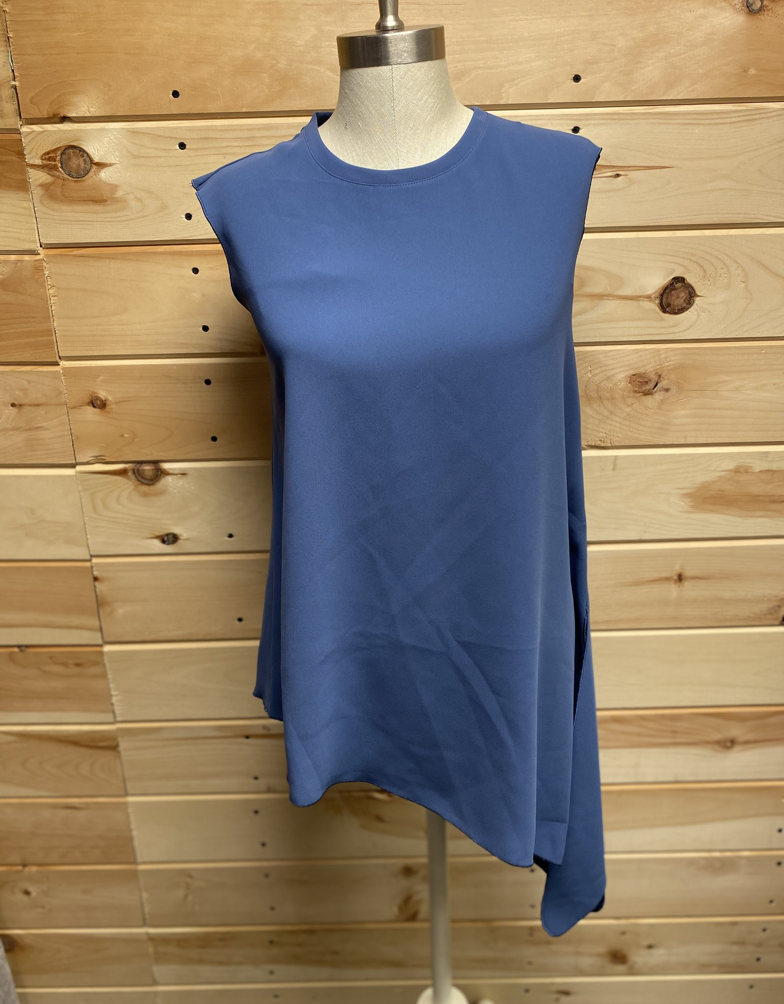 Anne Klein Anne Klein Fluid Asymmetrical Sleeveless Blouse Sz 4