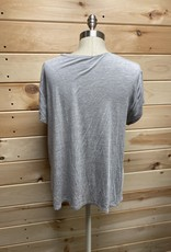 Free Press Free Press Carlie Side Tie Tee Sz L