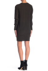 Go Couture Go Couture V-Neck Dolman Sleeve Sweater Dress Sz S