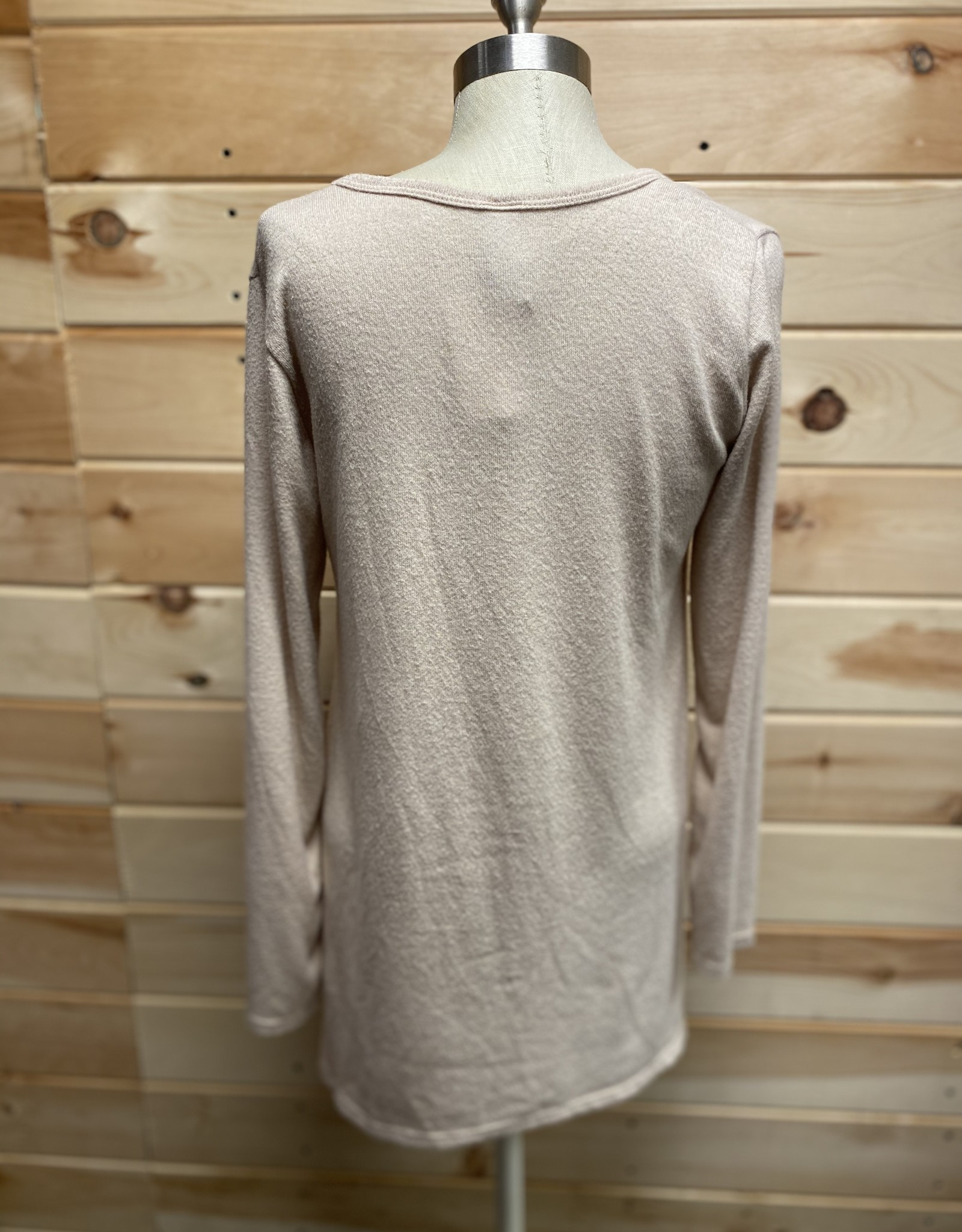 Go Couture Go Couture Long Sleeve Handkerchief Tunic Sweater Sz L