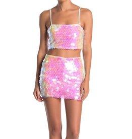 Emory  Park Emory Park Sequin Skirt & Top Set Sz S #253E
