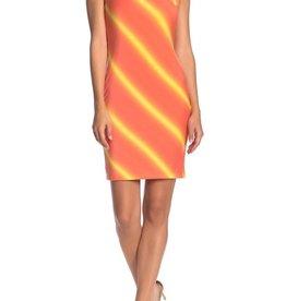 BLVD BLVD Striped Sleeveless Bodycon Dress Sz M