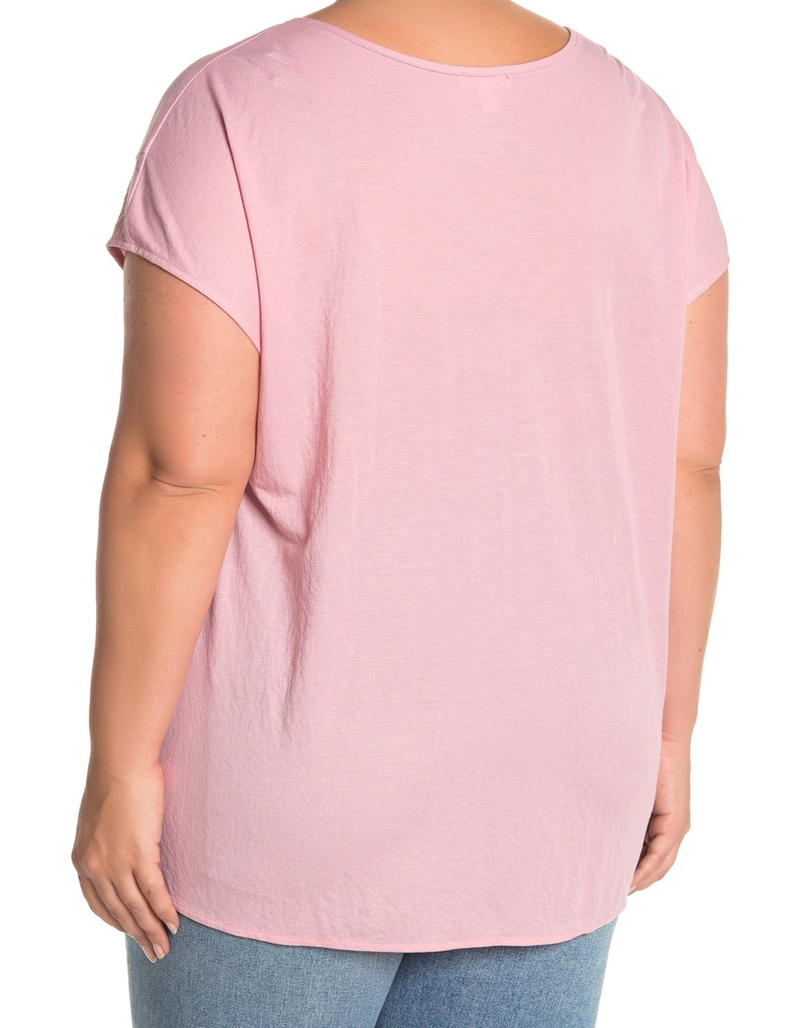 Como Vintage Como Vintage Tie Front V-Neck T-Shirt