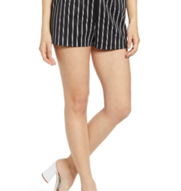 Leith Leith High Waist Striped Shorts Sz XS
