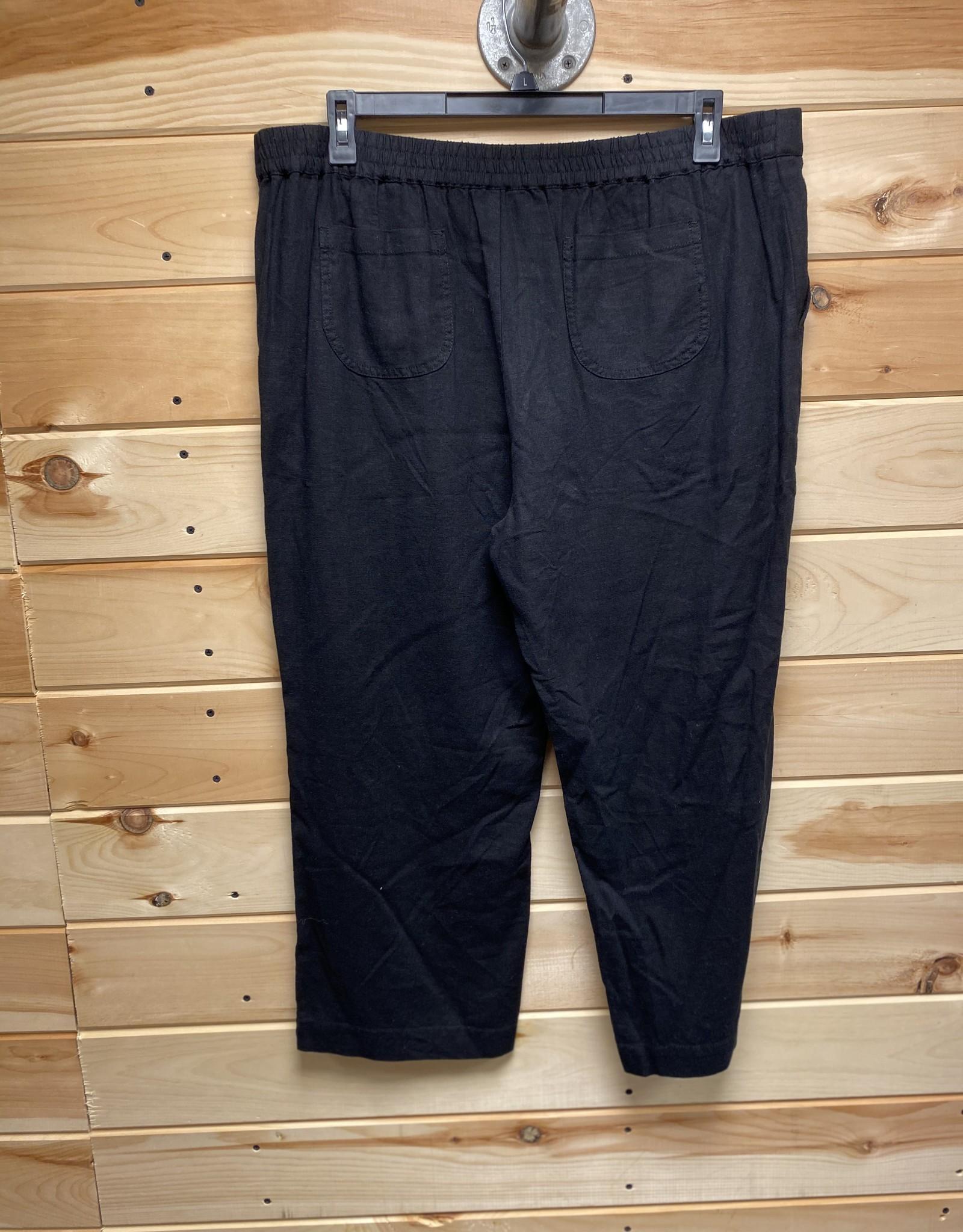 Caslon Caslon Linen Blend Wide Leg Crop Pants Sz XL