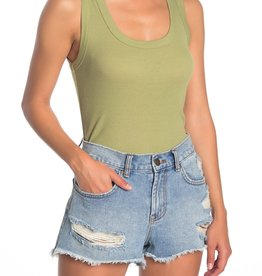 BP BP Olive Scoop Neck Ribbed Tank Top Sz L