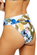 Topshop Topshop Ribbed Hawaiian High Waist Bikini Bottoms Sz 12