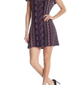 Papillon Papillon Cable Knit Print Dress Sz M