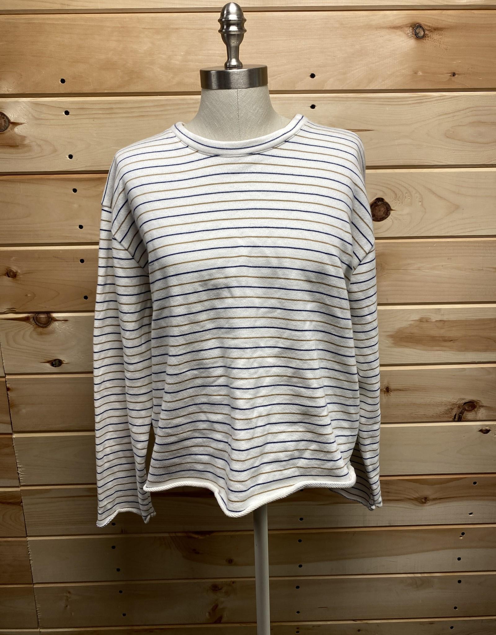 Vince Vince Crop Striped Sweater Sz M