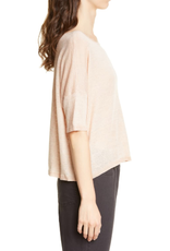 Eileen Fisher Eileen Fisher Bateau Neck Linen Boxy Top