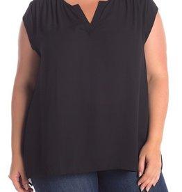 DR2 DR2 Smocked Shoulder Blouse Size 2X #424E