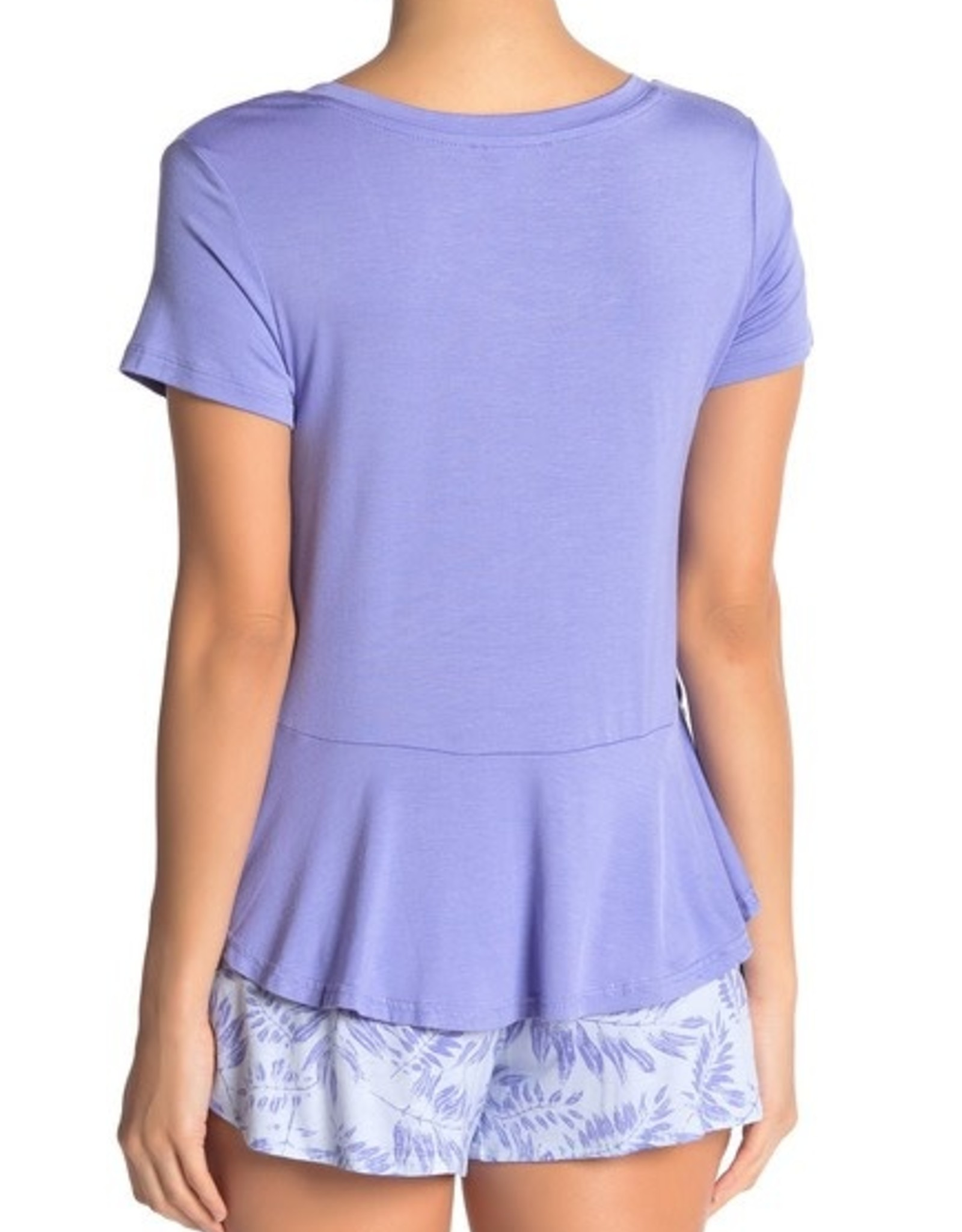halebob Hale Bob Ruffled Hem Pajama Top Size XL #439E