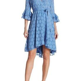 Gabby Skye Bell Sleeve Wrap Dress Size 10
