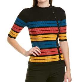 Laundry Laundry Colorblock Striped Sweater Sz S