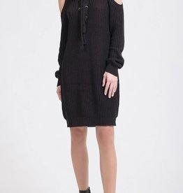 J.O.A. J.O.A. Cold Shoulder Knit Sweater Dress Size M
