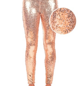 Tipsy Elves Tipsy Elves Rose Gold Sequin Leggings Size M