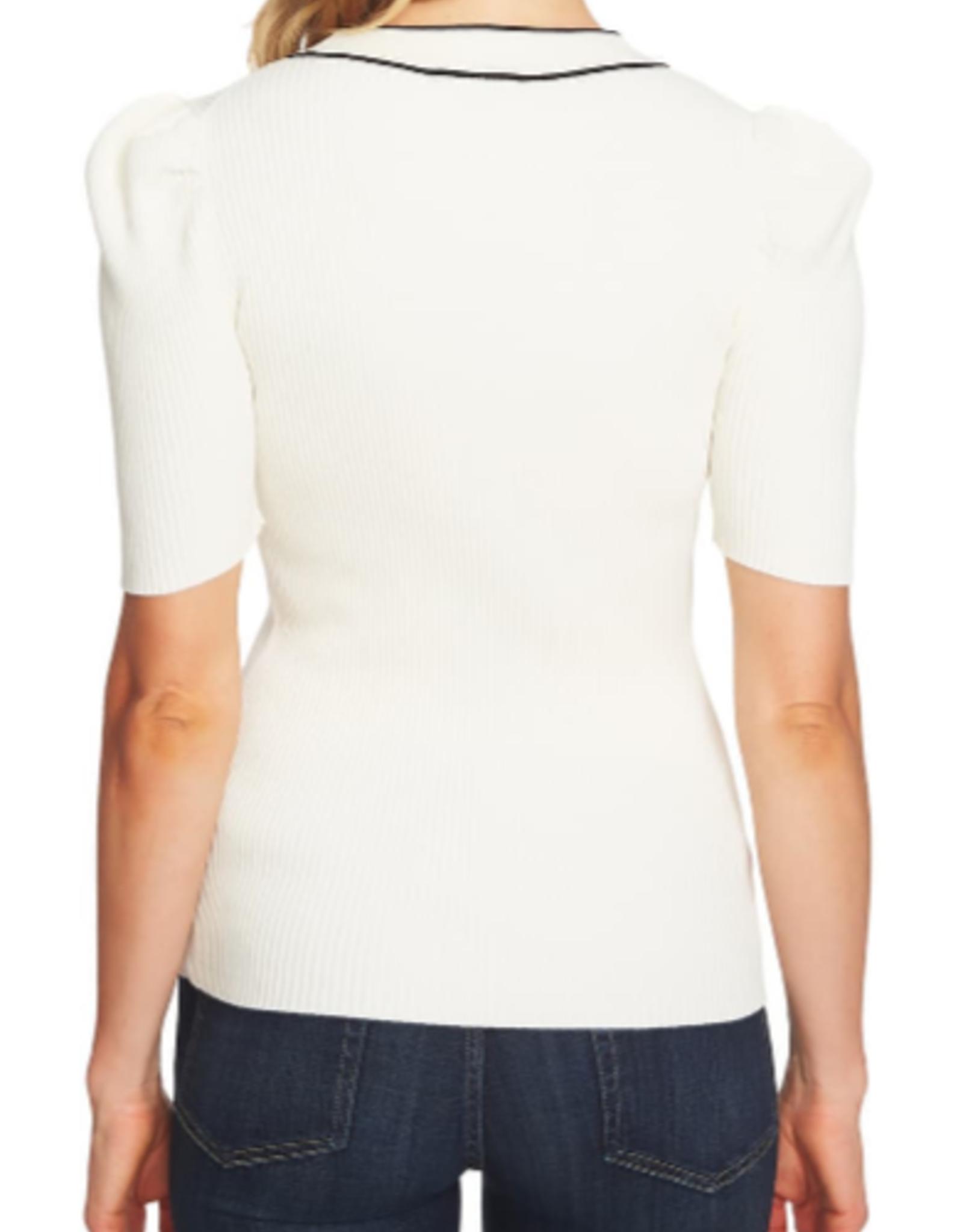 CeCe CeCe Bow Neck Puff Sleeve Sweater Size XXL