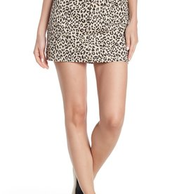 Know One Cares Know One Cares Leopard Print Denim Mini Skirt Sz XL