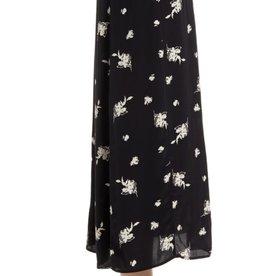 Something Navy Something Navy High Waist Floral Midi Skirt Sz L